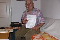 Podvedený důchodce František Kuba