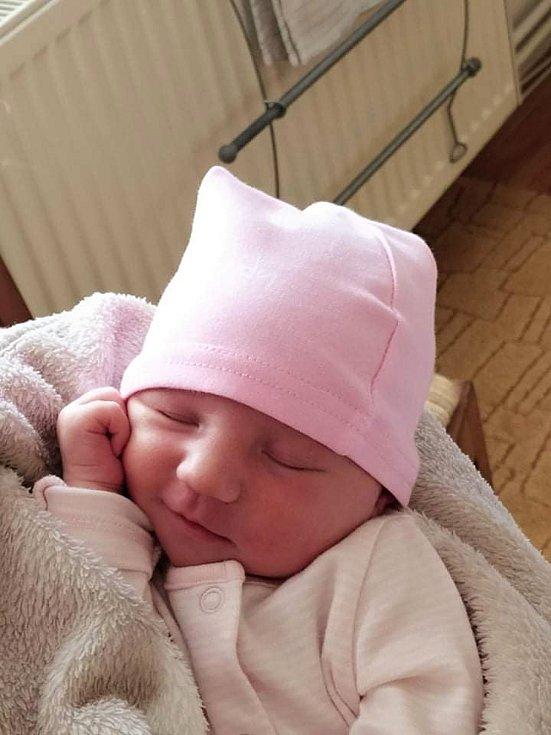 Gabriela Koukalová, Citov, narozena 8. července 2021 v Přerově, míra 50 cm, váha 3626 g