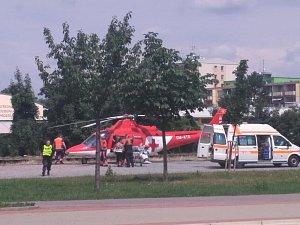 Zásah záchranářů v Olomoucké ulici v Prostějově