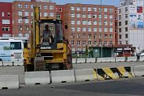 Přestavba dopravního uzlu před nemocnicí