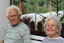 Manželé Miroslav a Zdeňka Držkovi z Prostějova – Domamyslic spolu žijí už šedesát let. Recept na dlouholeté manželství vidí v úctě k druhému, trpělivosti a velkorysosti.