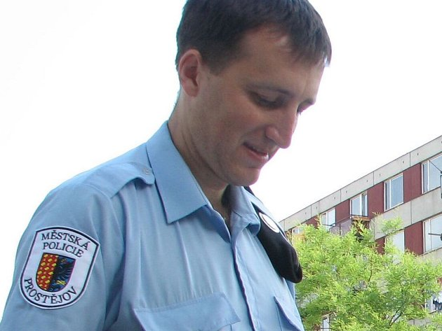Strážník Městské policie Prostějov.