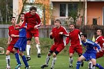 1. FK Prostějov (v modrém) proti Novému Jičnínu