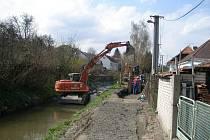 Budování kanalizace v Konici