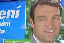 Radim Fiala na volebním billboardu