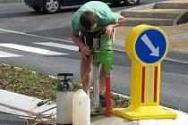 Opravy cest v Konici