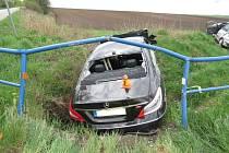 Bouračka na křižovatce silnic k obcím Smržice, Dubany, Držovice a Olšany u Prostějova
