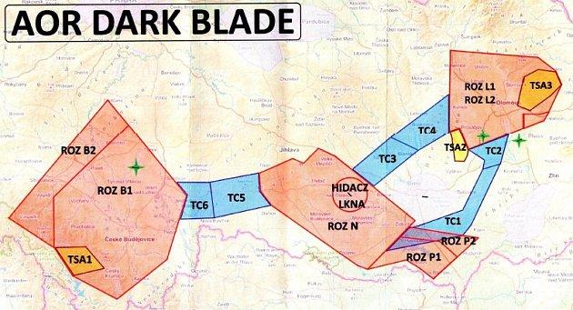 Dark Blade 2019 - mapka zasaženého území