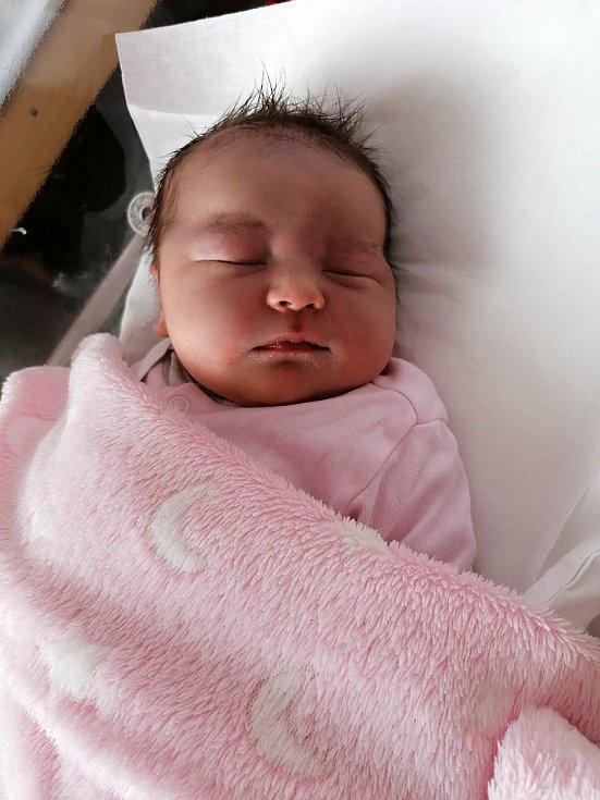 Barbora Rašková, Troubky, narozena 27. května 2021 v Přerově, míra 52 cm, váha 4230 g