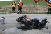 Stážka motorky a vozu Kia Sportage u Prostějova