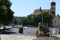 Stavba rondelu na Petrském náměstí