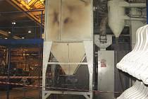 Požár odtryskávače