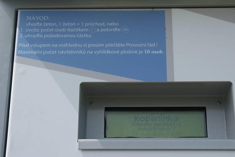 Rozhledna Kopaninka v Repechách a její nový vstupní automat - 4. 6. 2020