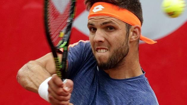 Jiří Veselý ve čtvrtfinále Czech Open v Prostějově