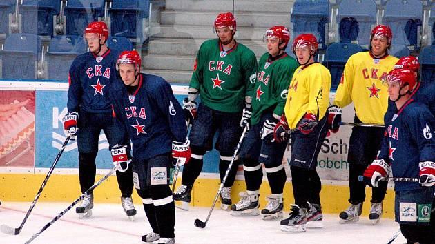 Hvězdný Petrohrad na treninku v Přerově