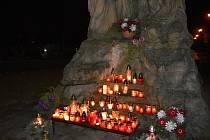 Městský hřbitov v Prostějově. Rozzářené hřbitovy na Prostějovsku. 31.10. 2020