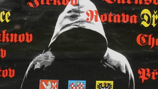 Část plakátu zvoucí na demostraci do Dřevnovic