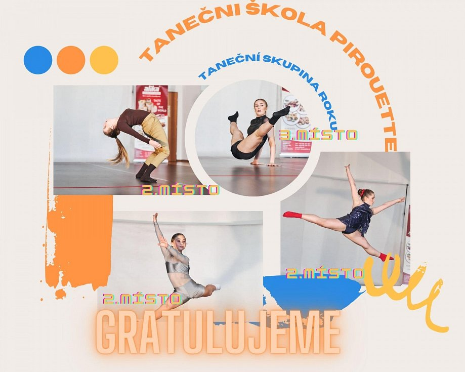 Medailistky Taneční školy PIROUETTE