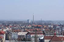 Vyhlídka z prostějovské radniční věže