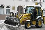 Úklid sněhu v Prostějově