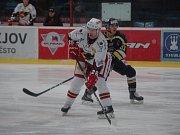 Hokejisté Prostějova ve 37. kole porazili Slovan Ústí nad Labem 4:3 Jan Starý (Prostějov)