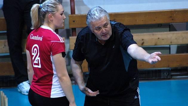 Vladimír Sirvoň, už bývalý trenér PVK Precheza