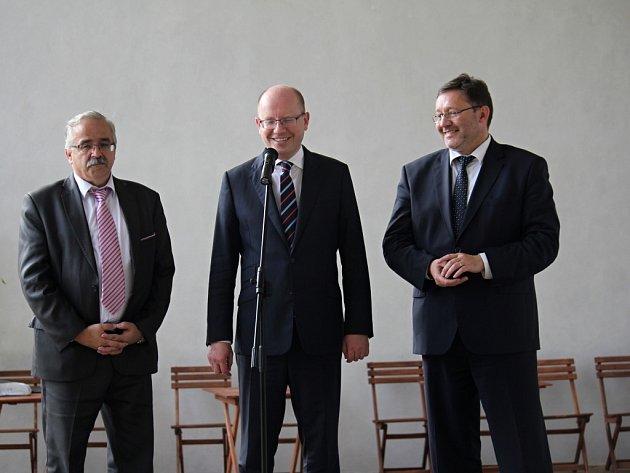 Premiér Bohuslav Sobotka vČechách pod Kosířem
