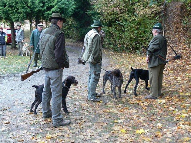 Podzimní zkoušky loveckých psů v Otaslavicích