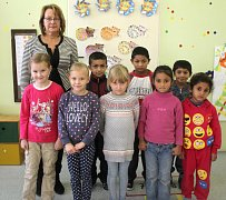 Žáci 1. třídy ze ZŠ Přemyslovice s paní učitelkou Danou Kouřílkovou