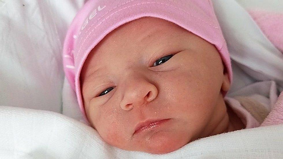 Evelína Odstrčilová, Hrdibořice, narozena 7. ledna 2021 v Prostějově, míra 48 cm, váha 2750 g