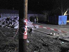 Po požáru za místním nádražím v Prostějově našli ohořelé tělo muže