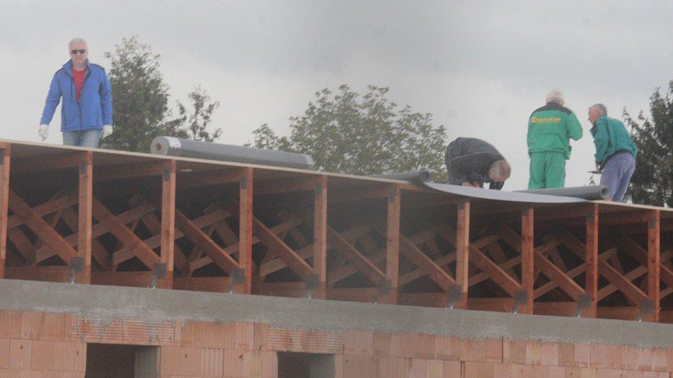 Přestavba koupaliště ve Vrahovicích na konci dubna 2018