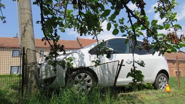 Nehoda Opelu v Přemyslovicích