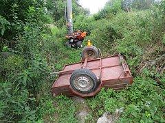 Nehoda čtyřkolky u Horního Štěpánova