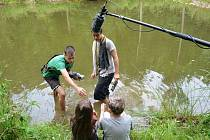 Natáčení probíhalo 14 dní, mladí tvůrci ale na filmu Pan Enky ale pracují už od února.