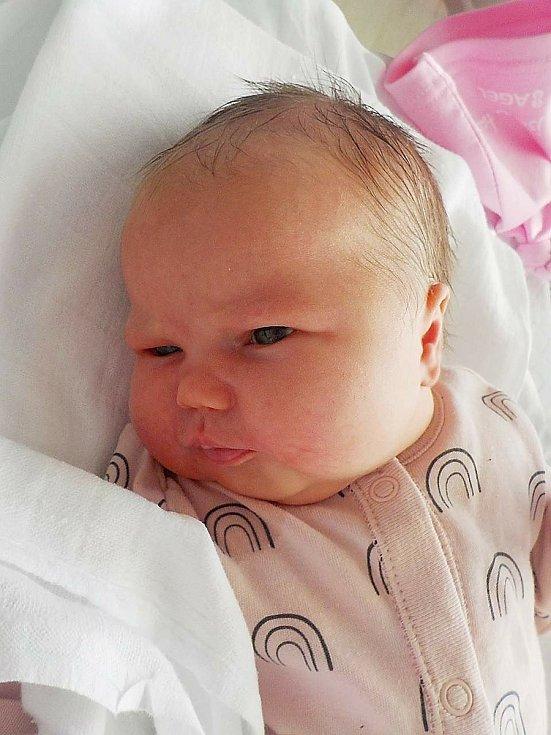 Eliška Balašová, Němčice nad Hanou, narozena 7. dubna 2021 v Prostějově, míra 50 cm, váha 3800 g