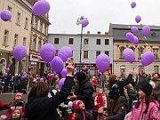 Vypuštění balonků k Ježíškovi v Prostějově