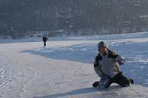 Bruslení na plumlovské přehradě