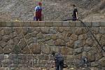 Hráz plumlovské přehrady a sondáž v propusti - 7. listopadu 2011
