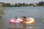 Plumlovská přehrada - pláž U vrbiček