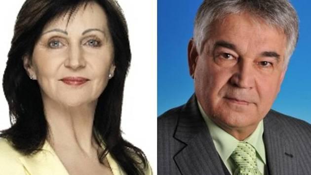 Božena Sekaninová (ČSSD) a Jaroslav Šlambor (KSČM)