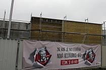 Stavba prostějovského KFC