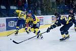 Hokejisté Přerova (ve žlutém) doma porazili Ústí nad Labem 5:2.