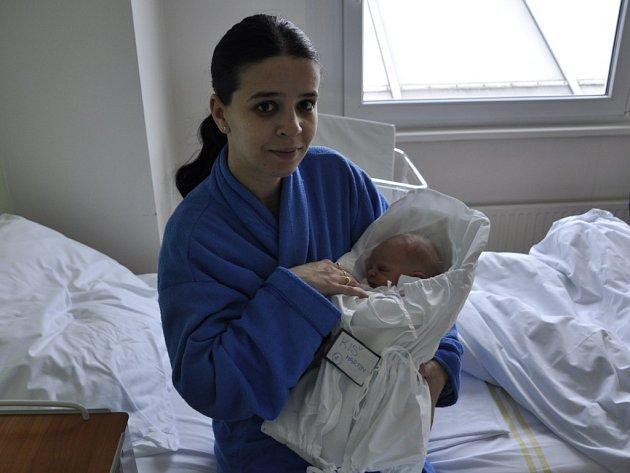 Prvním miminkem letošního roku z Prostějovska se stal Martin Kiš.