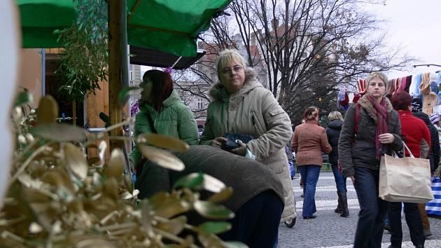 Vánoční jarmark v Prostějově.