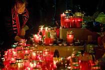 Pietní akce za zemřelé hokejisty. Ilustrační foto
