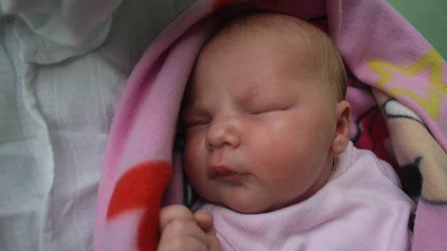 Kornélie Klimešová, Prostějov, narozena 18. července v Prostějově, míra 51 cm, váha 3950 g