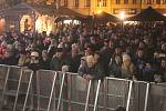 Česko zpívá koledy na náměstí TGM v Prostějově 2017
