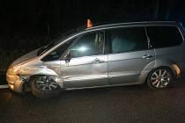 Nehoda Fordu Galaxy na D46 u Prostějova - 30. 3. 2021