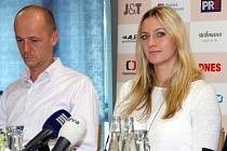 Nominační tiskovka před finále Fed Cupu 2014 - Petr Pála, Petra Kvitová